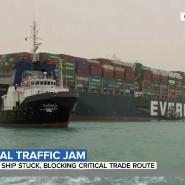 Suez Canal Blockage Delays Major Shipping Route